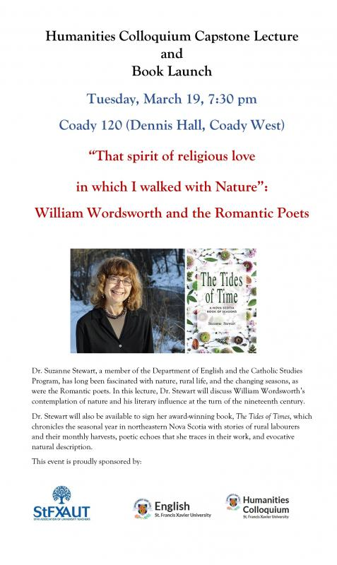 Suzanne Stewart, Book Launch, Humanities Colloquium Lecture