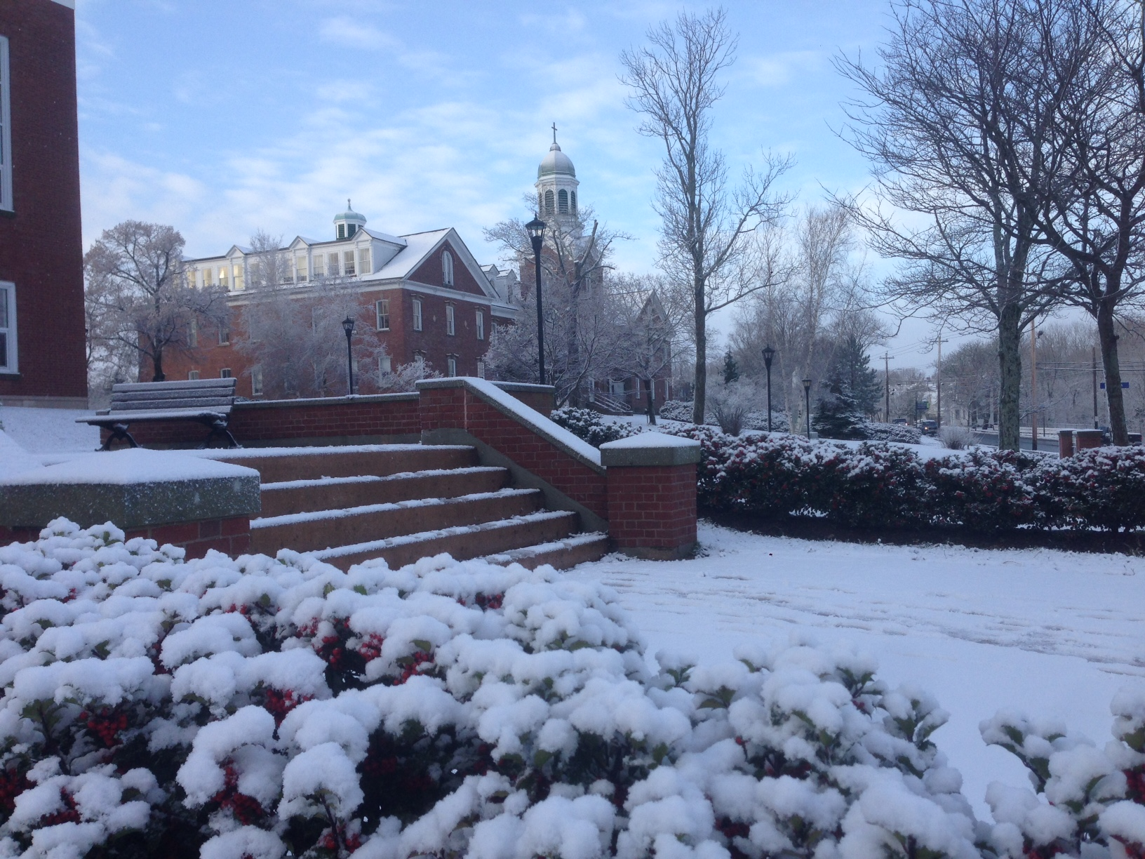 Xavier Hall snow