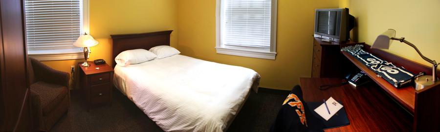 Bedroom in a double suite in residence at StFX
