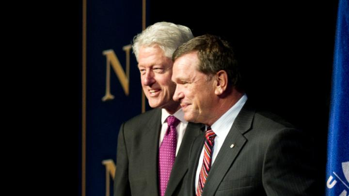 Bill Clinton and Frank McKenna at StFX