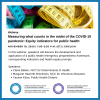 Webinar: Measuring what counts in the midst of the COVID-19 pandemic: Equity indicators for public health