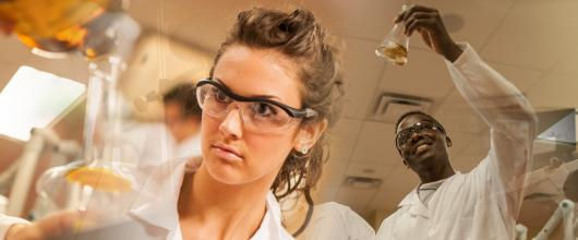 StFX students in chemistry lab